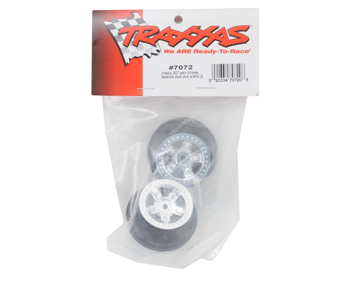 Traxxas SCT Wheel (Satin Chrome) (2)