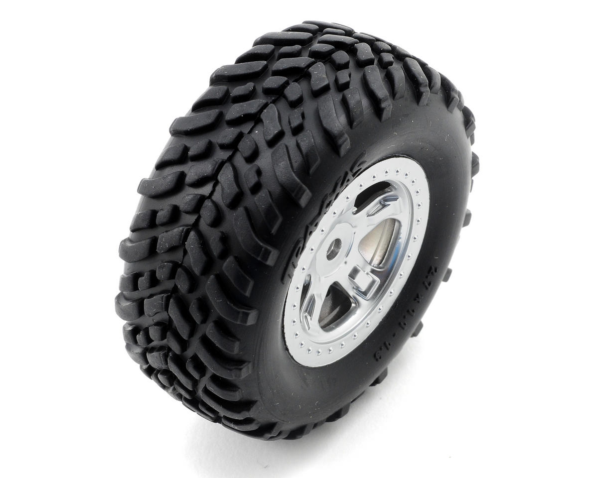 Pre-Mounted SCT Off-Road Tire (Satin Chrome) (2) by Traxxas