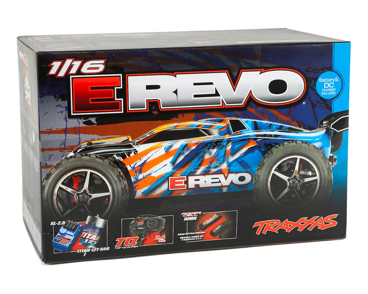 Image 7 for Traxxas E-Revo 1/16 4WD Brushed RTR Truck (Orange)