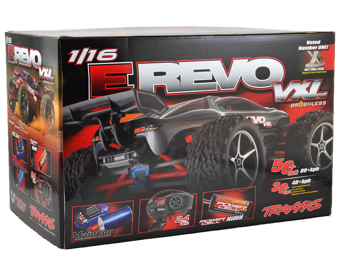 Traxxas 1/16 E-Revo VXL 4WD Brushless Truck (w/TQ 2.4GHz Radio & 1200mAh 6 Cell Battery)