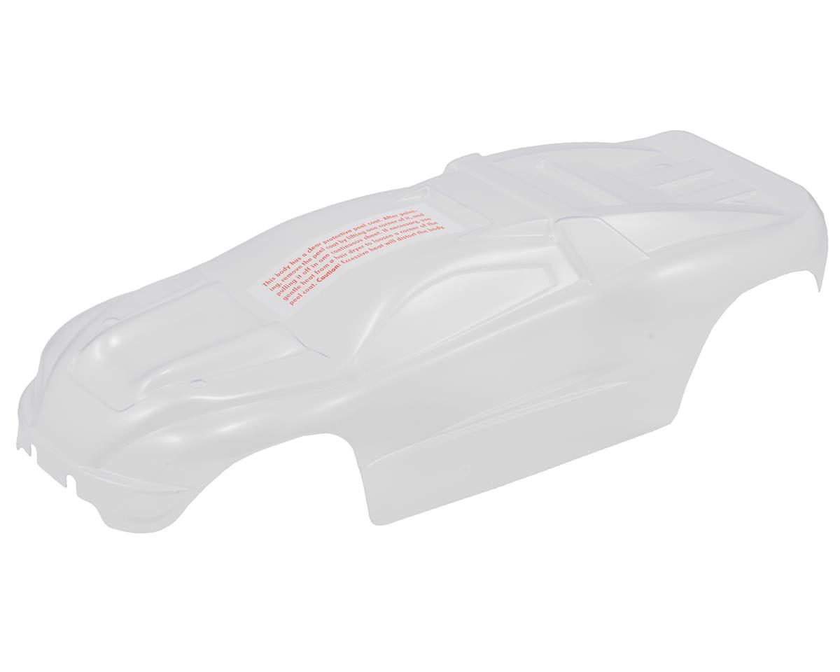 1/16 E-Revo Body w/Grill & Light Decals (Clear) by Traxxas