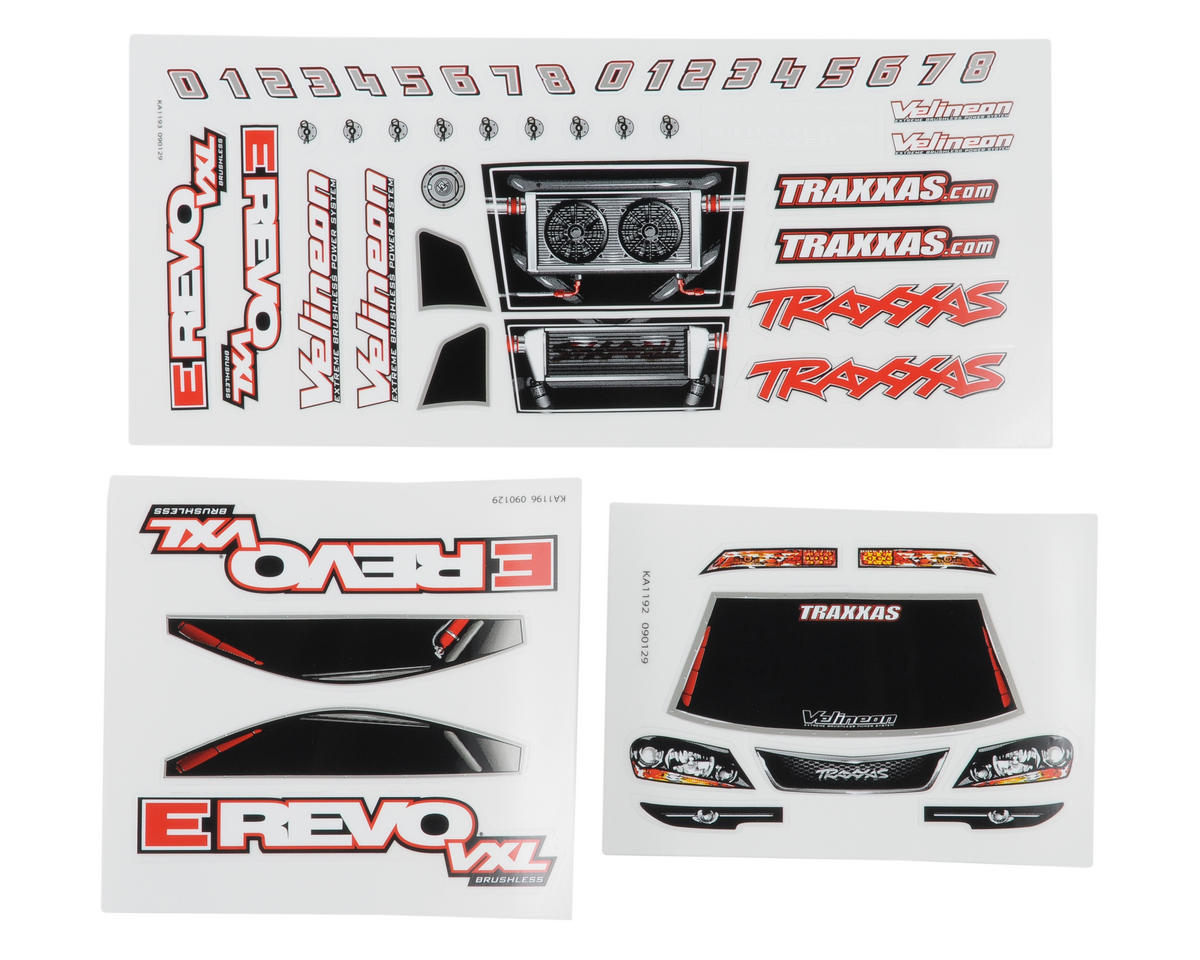 Traxxas 1/16 E-Revo VXL Decal Sheet (3)