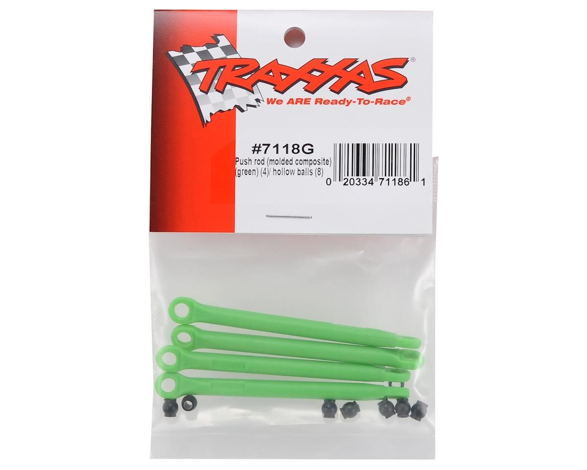 Molded Composite Push Rod Set (Green) (4) by Traxxas