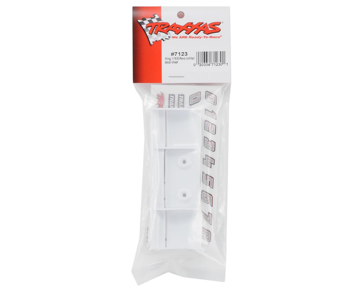 1/16 E-Revo Wing w/Decal Sheet (White) by Traxxas