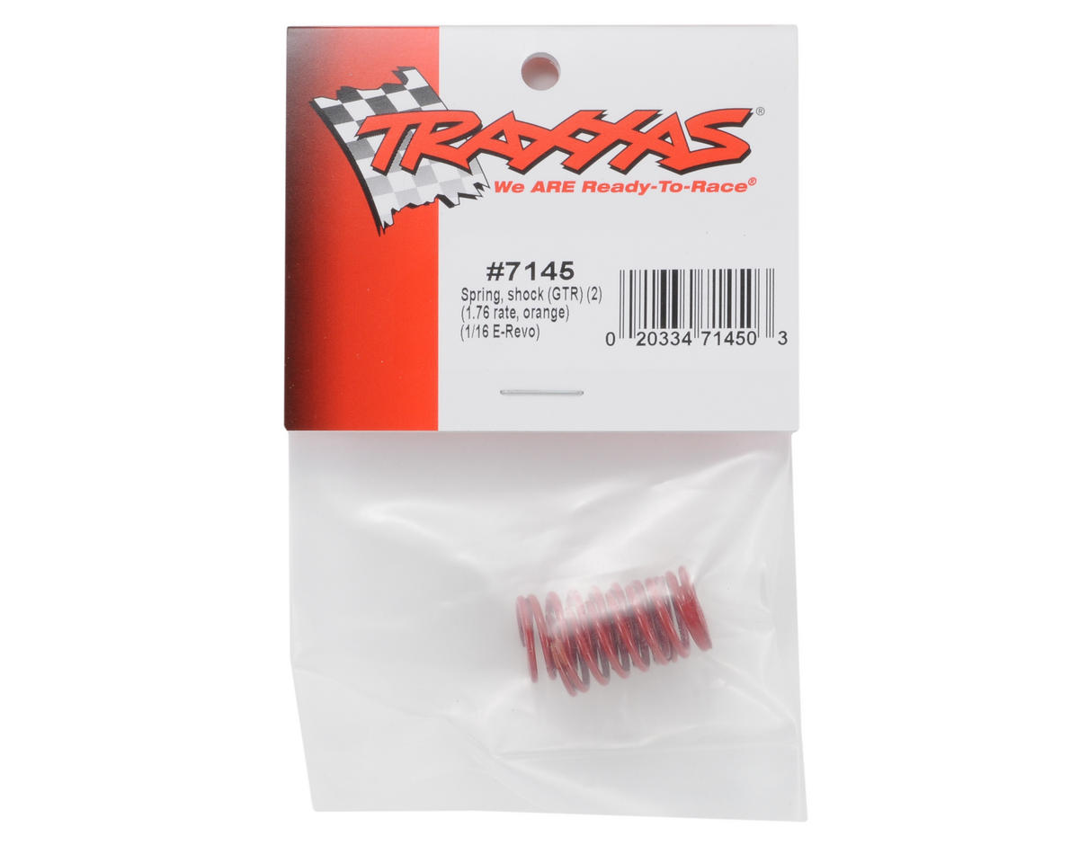 Traxxas GTR Shock Spring Set (Orange - 1.76) (2) (1/16 E-Revo)