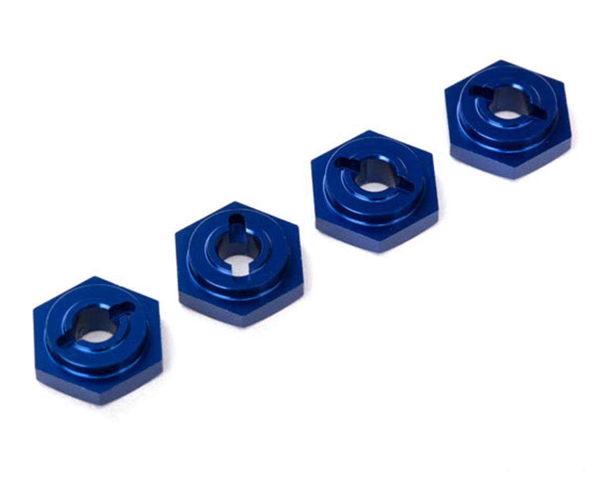 Traxxas Aluminum Hex Wheel Hubs (Blue) (4)