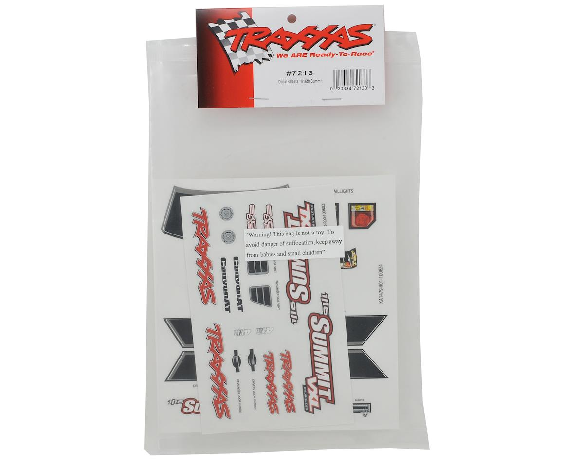 Traxxas 1/16 Summit Decal Sheet