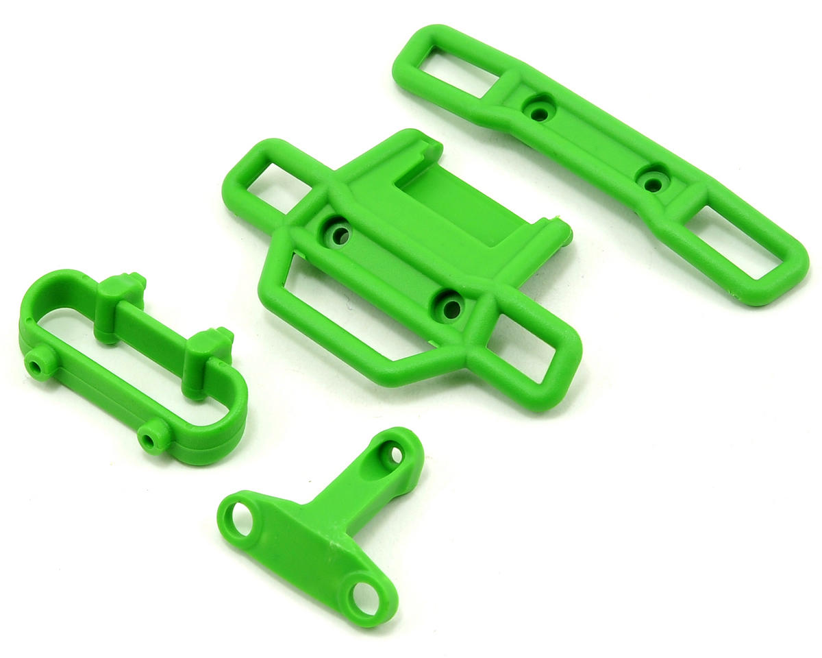 Front & Rear Bumper Set (Green) (2) by Traxxas