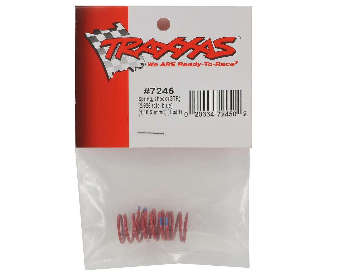Traxxas GTR Shock Spring (2.925 Rate - Blue) (2)