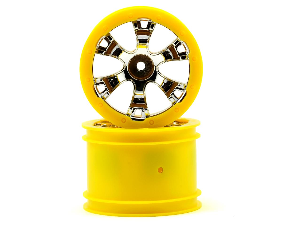 "Traxxas 2.2"" Geode Beadlock Style Wheels w/12mm Hex (2) (Chrome/Yellow)"
