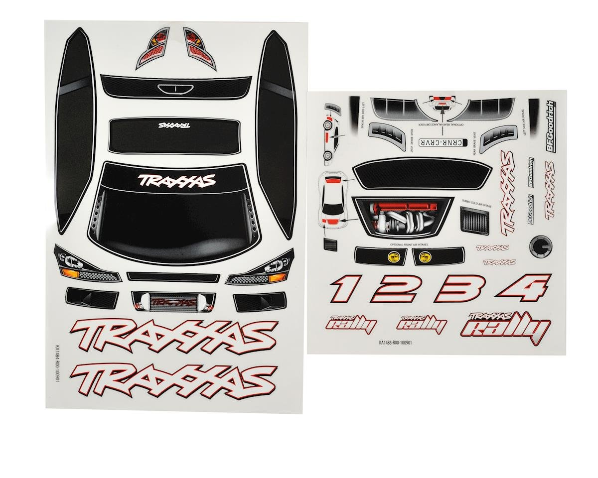 1/16 Rally Decal Sheet by Traxxas