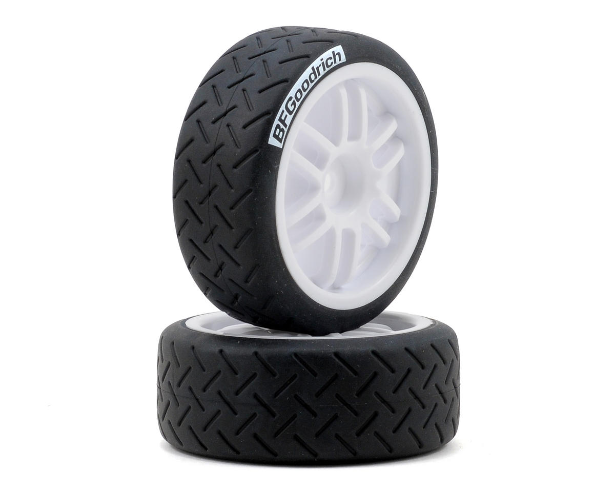 12mm Hex Pre-Mounted 1/16 BFGoodrich Rally Tires (2) (White) by Traxxas