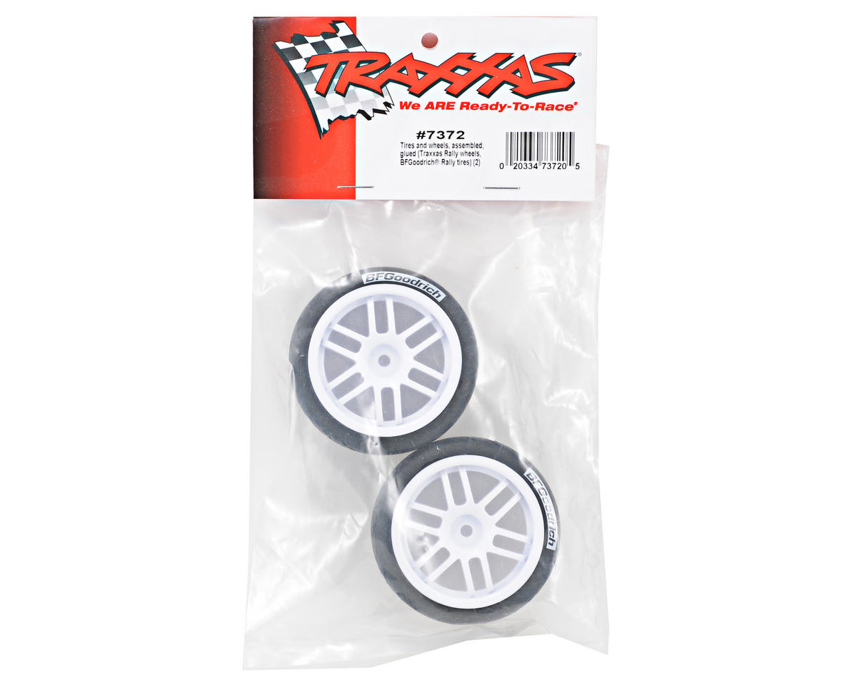 Traxxas 12mm Hex Pre-Mounted 1/16 BFGoodrich Rally Tires (2) (White)