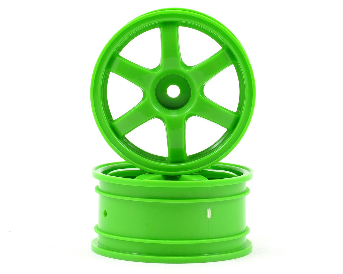 12mm Hex Volk Racing TE37 Wheel Set (2) (Green) by Traxxas