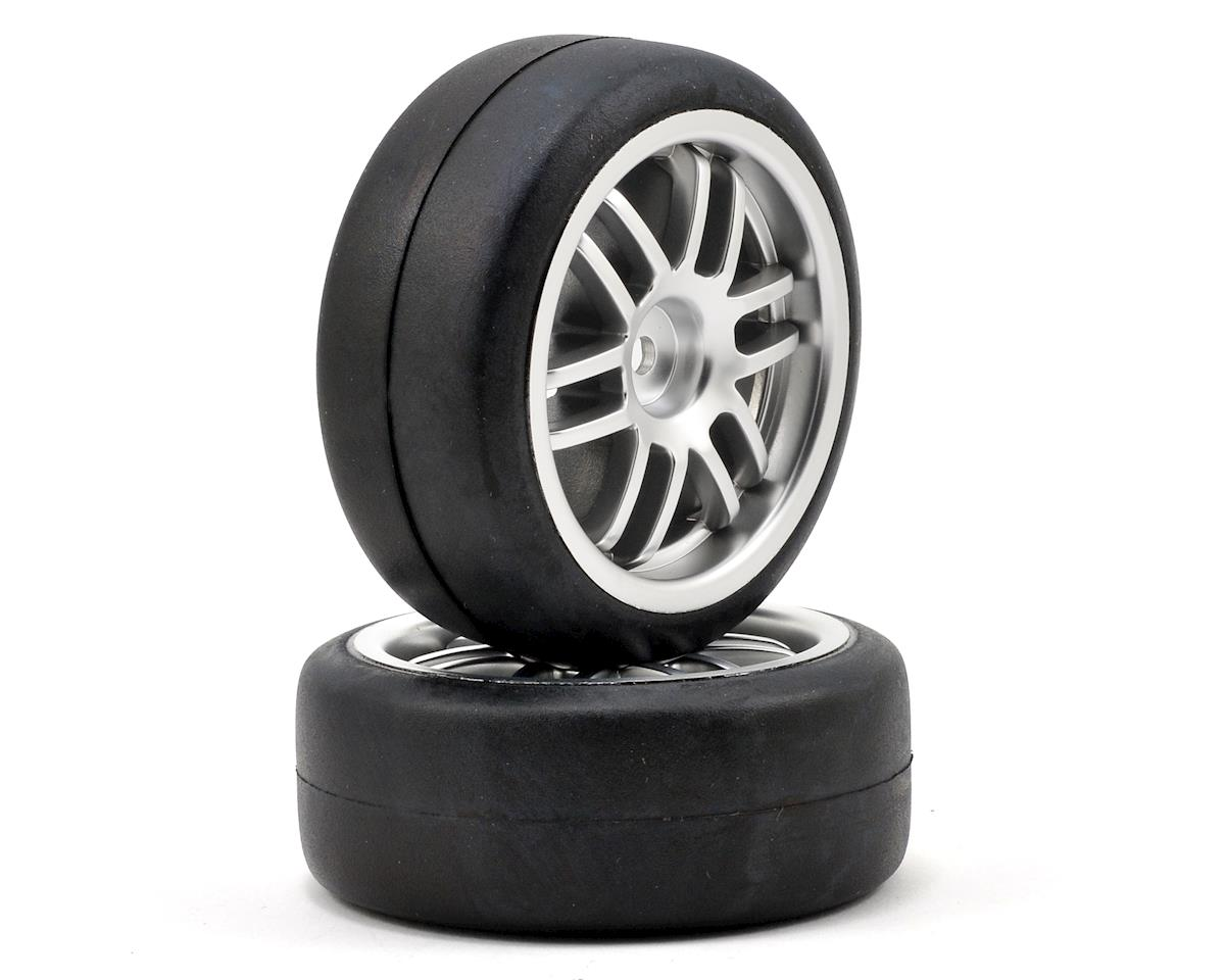 Traxxas Pre-Mounted 1/16 Gymkhana Slick Tires w/Rally Wheels (2) (Satin Chrome)