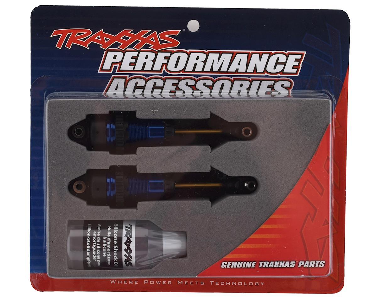 Traxxas Complete GTR Long Shocks w/Tin Shafts (Blue) (2)