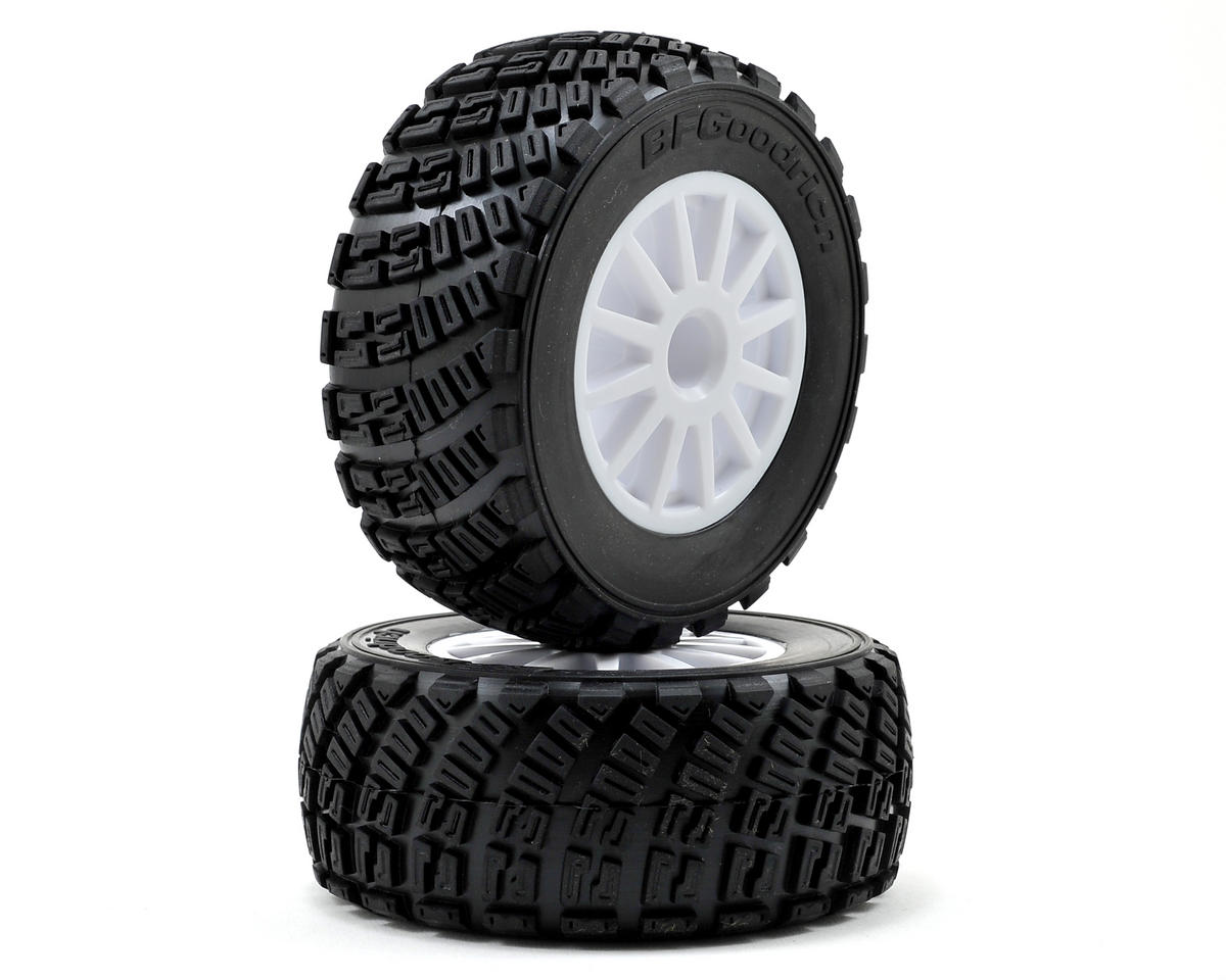 BFGoodrich Rally Tire w/Rally Wheel (2) (White) by Traxxas