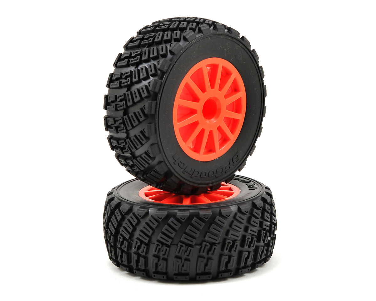 Traxxas BFGoodrich Rally Tire w/Rally Wheel (2) (Orange) (Standard)
