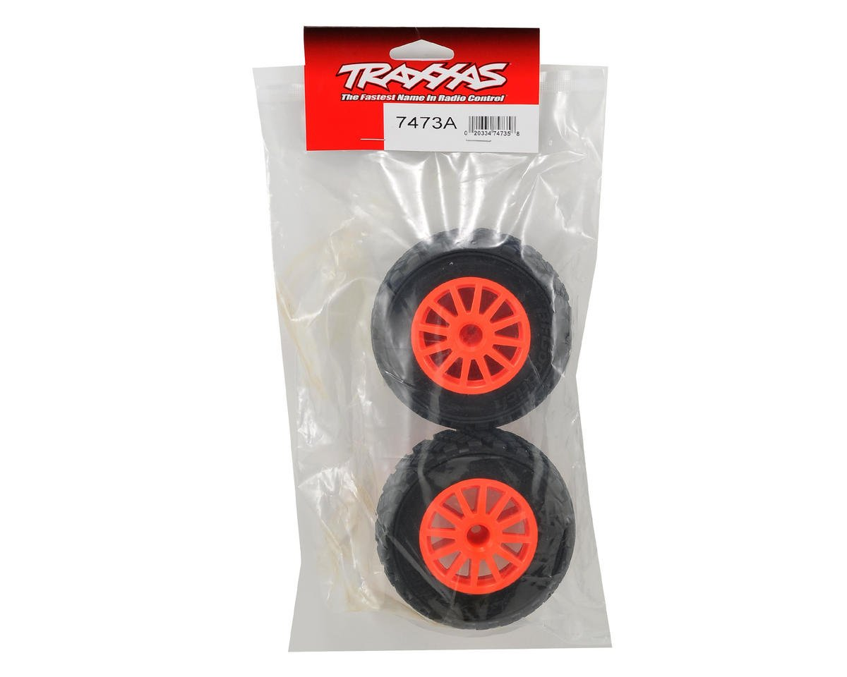 Traxxas BFGoodrich Rally Tire w/Rally Wheel (2) (Orange) (Standard)