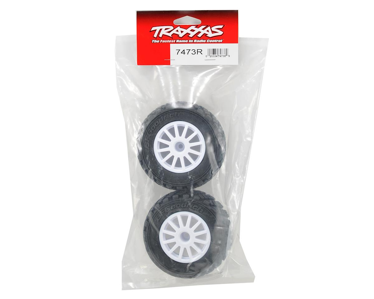 BFGoodrich Rally Tire w/Rally Wheel (2) (White) (S1) by Traxxas