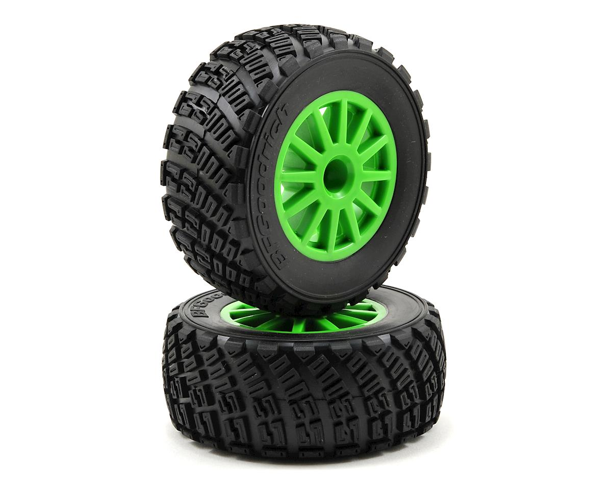 BFGoodrich Rally Tire w/Rally Wheel (2) (Green) by Traxxas