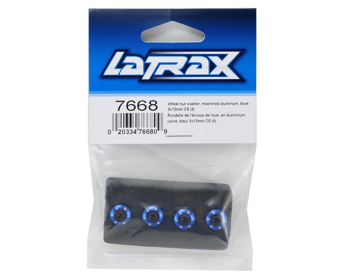 Traxxas LaTrax Aluminum Wheel Nut Washer (Blue) (4)