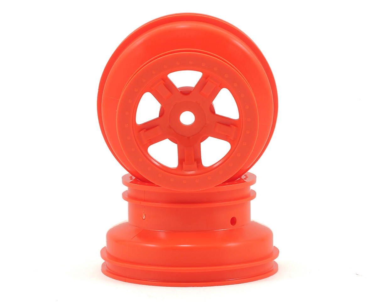 LaTrax SST 1/18 SCT Beadlock Style Wheels (2) (Orange) by Traxxas