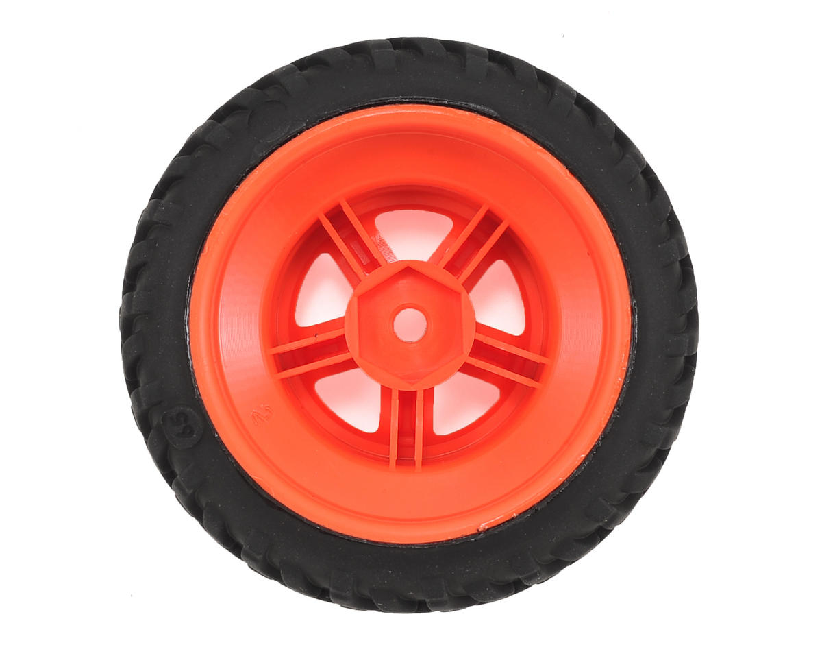 Traxxas SST 1/18 SCT Pre-Mounted Tires w/SCT Wheels (2) (Orange)