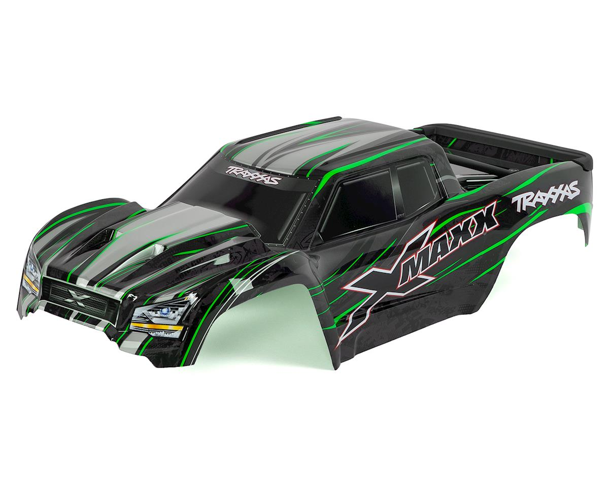 X-Maxx Monster Truck Pre-Painted Body (Green) by Traxxas