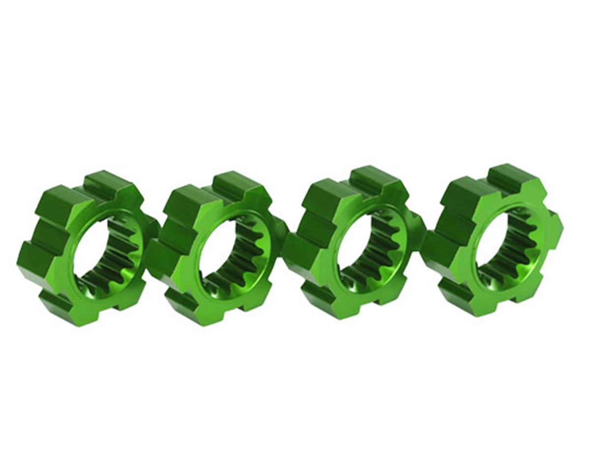 Traxxas X-Maxx Aluminum Wheel Hex Hub (Green) (4)