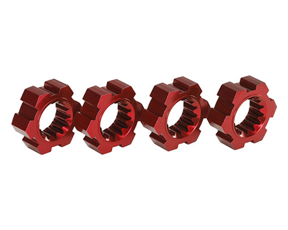 Traxxas X-Maxx Aluminum Wheel Hex Hub (Red) (4)