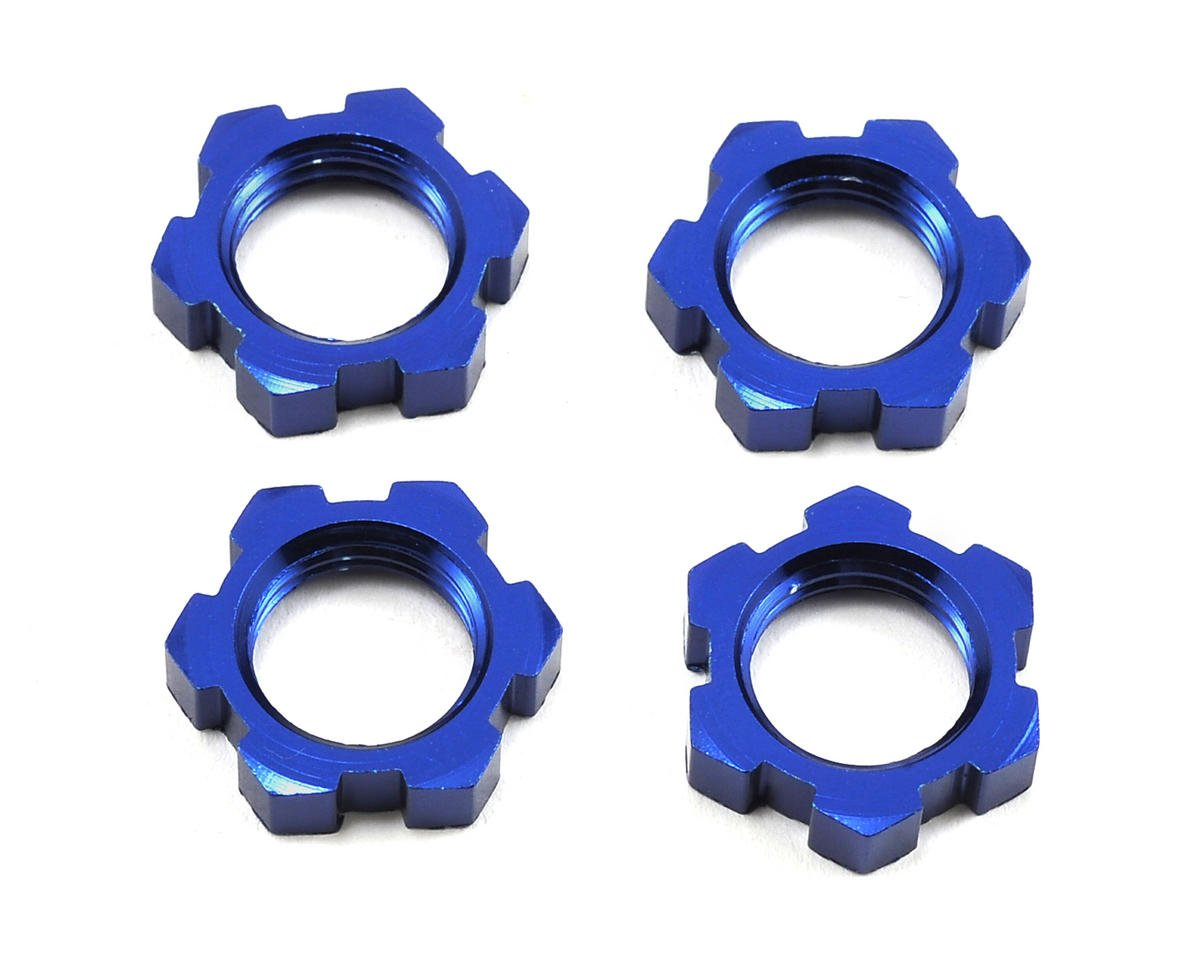 Traxxas X-Maxx 17mm Splined Wheel Nut (Blue) (4)