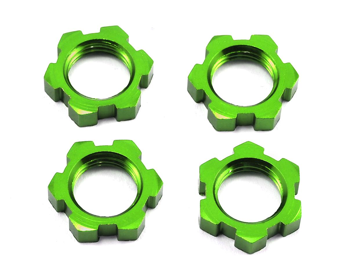 X-Maxx 17mm Splined Wheel Nut (Green) (4) by Traxxas