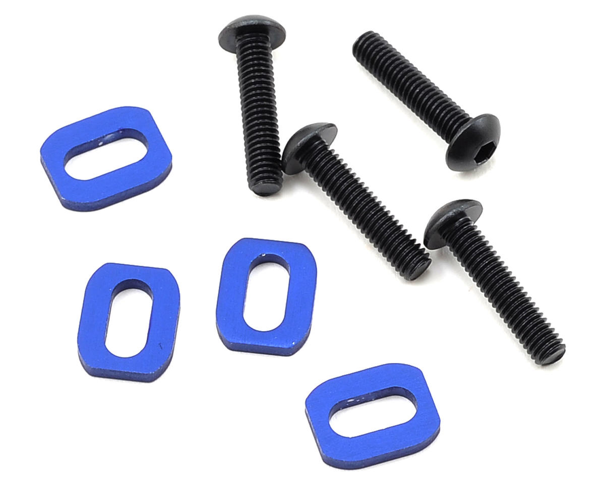 Traxxas X-Maxx Motor Mount Washer (Blue) (4)