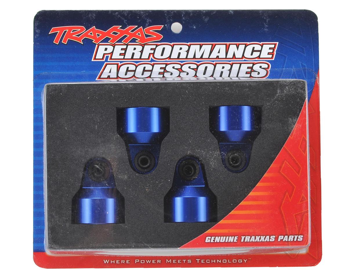 Traxxas X-Maxx Aluminum GTX Shock Cap (Blue) (4)