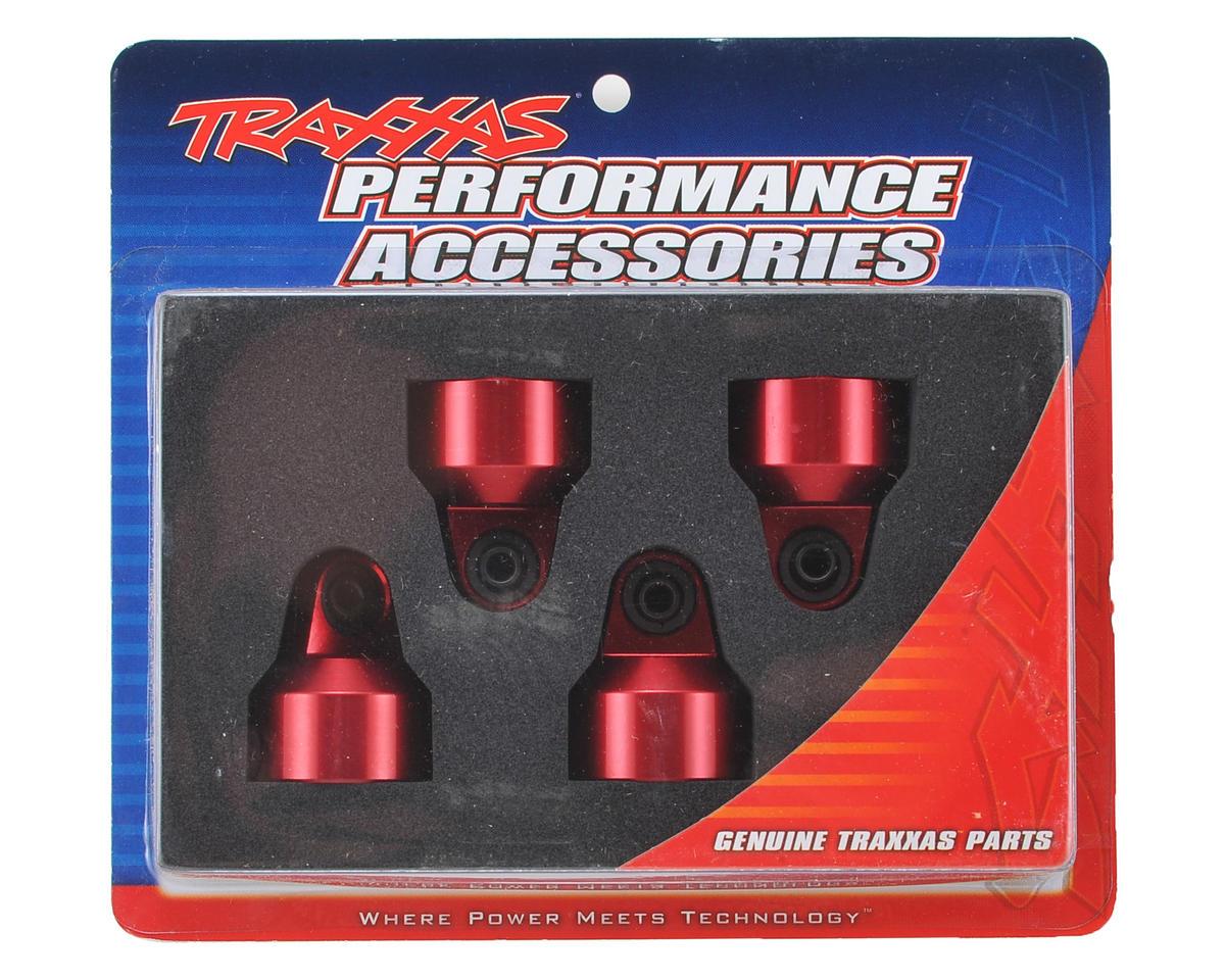 Traxxas X-Maxx Aluminum GTX Shock Caps (Red) (4)