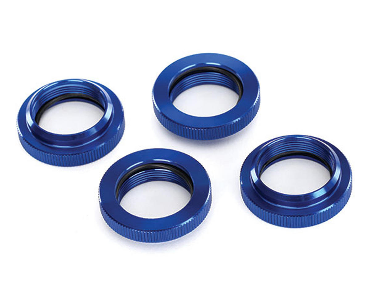 X-Maxx Aluminum GTX Threaded Collar (Blue) (4) by Traxxas