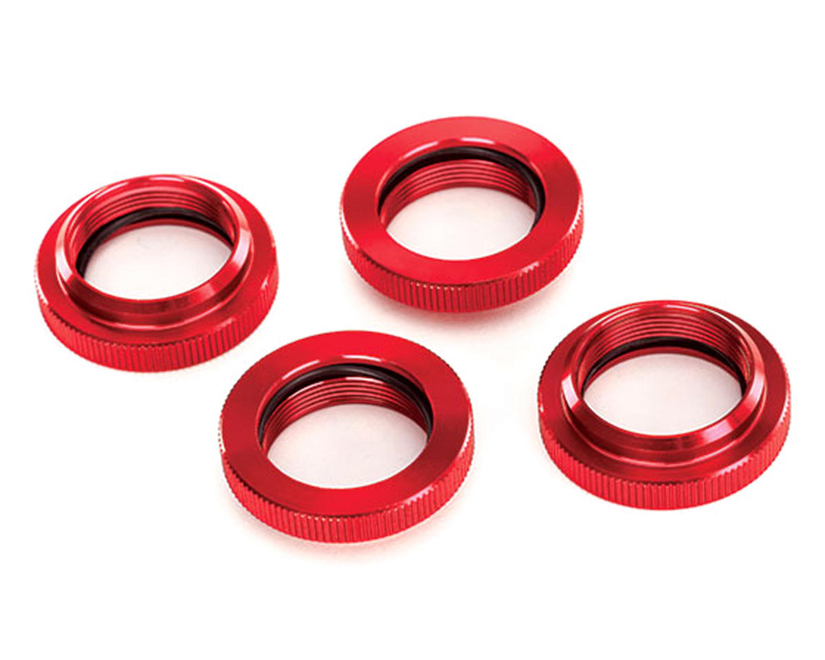 X-Maxx Aluminum GTX Threaded Collar (Red) (4) by Traxxas