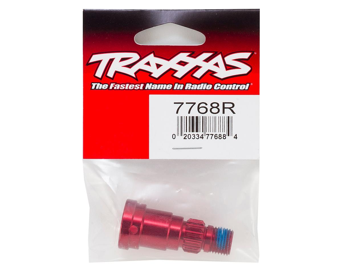 Traxxas X-Maxx Aluminum Stub Axle (Red) (use with TRA7750X)