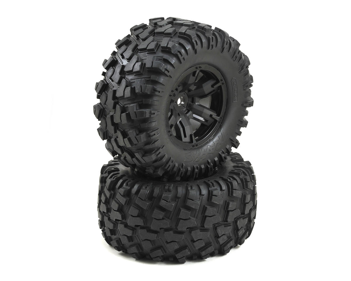 X-Maxx Pre-Mounted Tires & Wheels (2) by Traxxas
