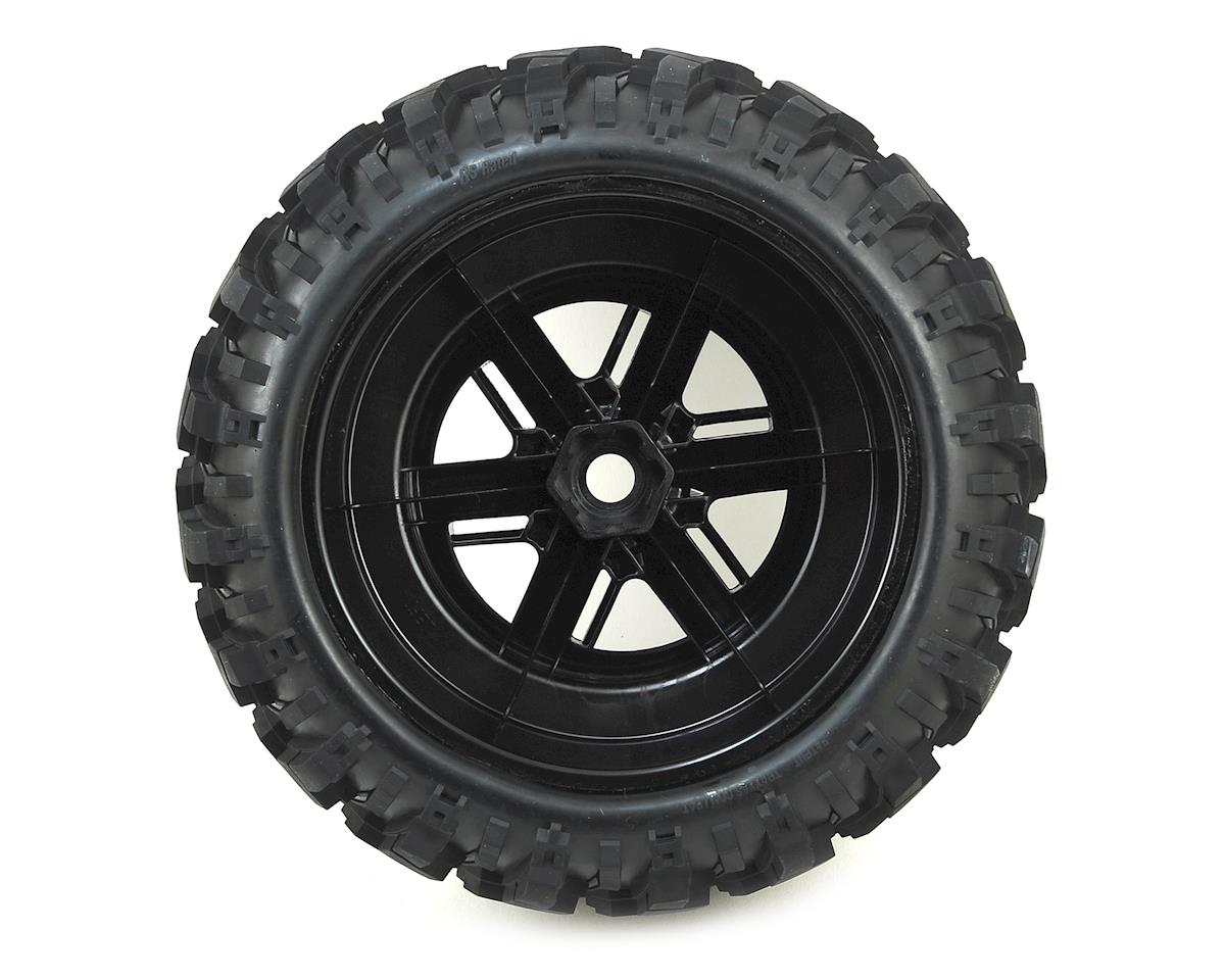 Traxxas X-Maxx Pre-Mounted Tires & Wheels (2) (Black Chrome)