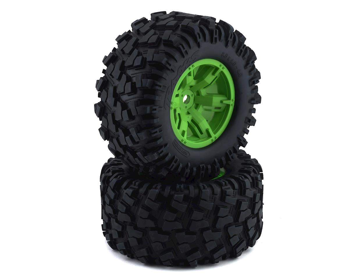 Traxxas X-Maxx Pre-Mounted Tires & Wheels (Green) (2)