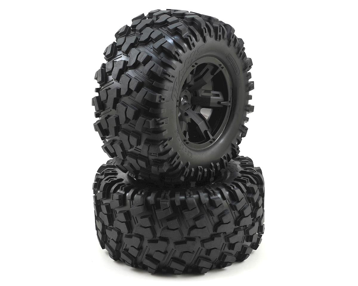 X-Maxx Pre-Mounted Tires & Wheels (2) (8S Rated) by Traxxas