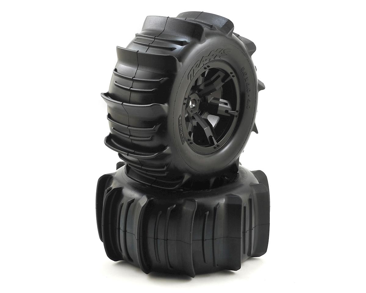Traxxas X-Maxx Pre-Mounted Paddle Tires & Wheels (2)