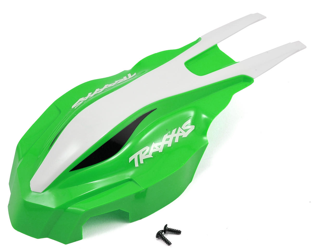 Aton Canopy Front (Green/White) by Traxxas