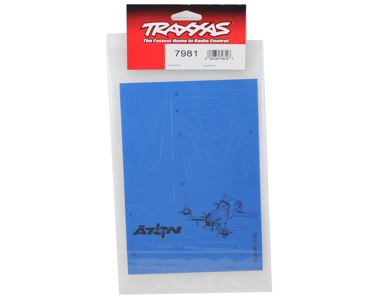 Traxxas Aton High Visibility Decals (Blue)