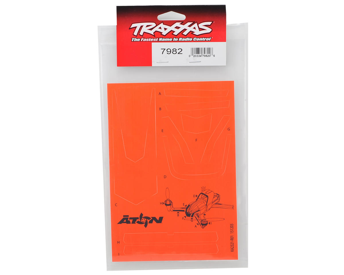 Traxxas Aton High Visibility Decals (Orange)