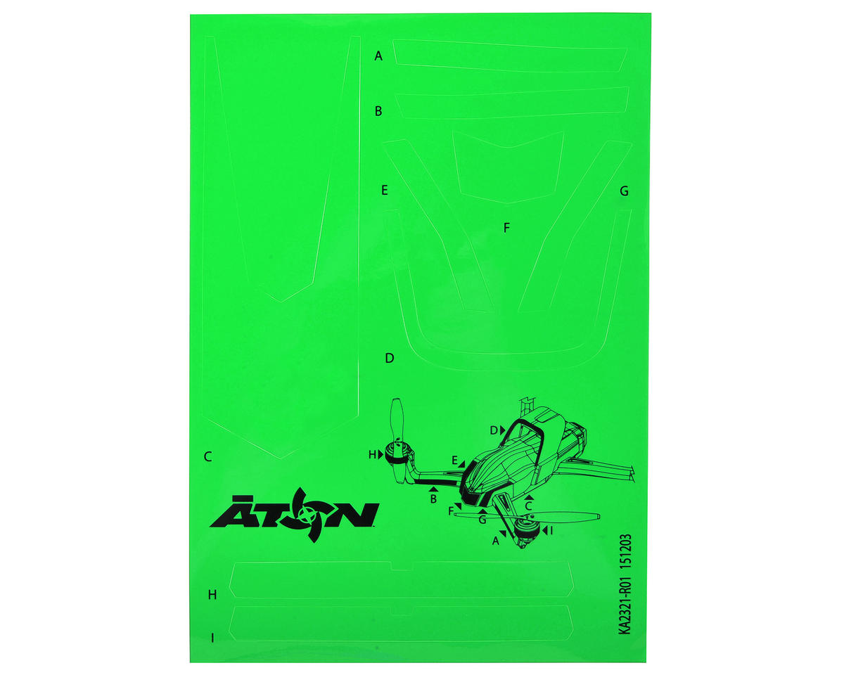 Traxxas Aton High Visibility Decals (Green)