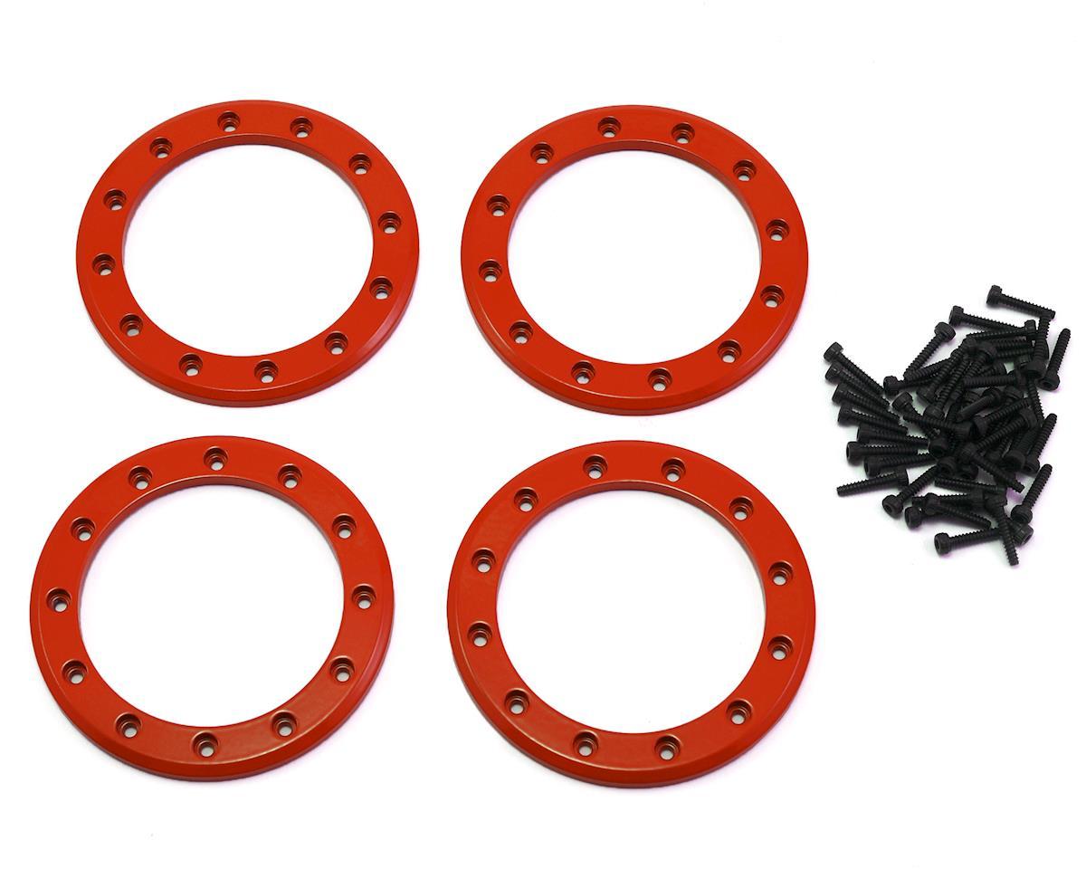 "Traxxas Aluminum 2.2"" Beadlock Rings (Red) (4)"