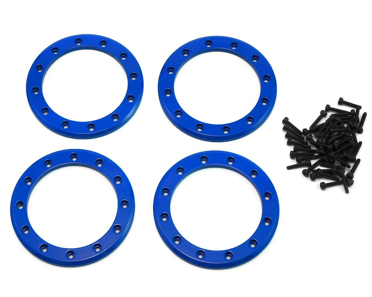 "Aluminum 2.2"" Beadlock Rings (Blue) (4) by Traxxas"